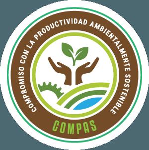 """Logo Compromiso Con La Productividad Ambientalmente Sostenible """"Compas"""""""
