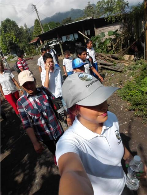 La Oficina Territorial de Pana realiza caminata ecológica en el municipio de Otanche.