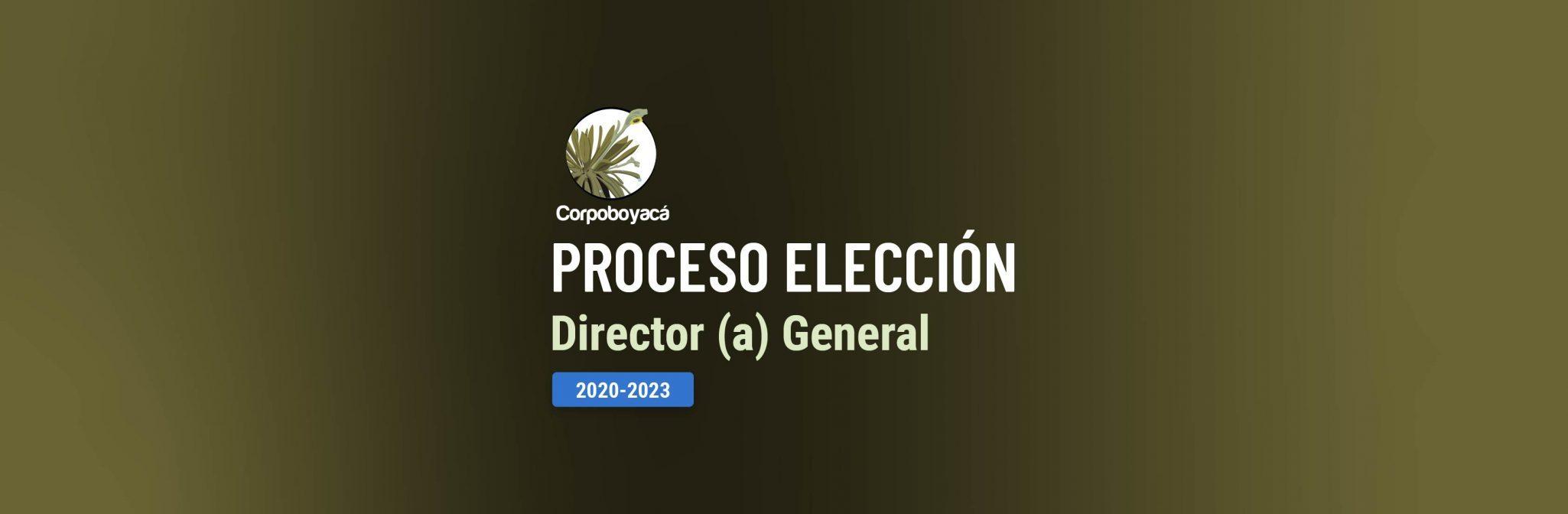 Foto Proceso de elección Director General de Corpoboyacá