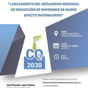 Foto Lanzamiento del Mecanismo Regional de Reducción de Emisiones de Gases Efecto Invernadero