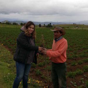 Entrega material vegetal a secretaria planeación municipio de Siachoque