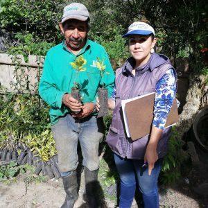 Entrega de material vegetal a Secretaria de Planeación municipio de Santa Rosa de Viterbo