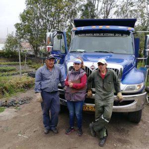 Entrega de material vegetal Secretaria de Planeación municipio de Santa Rosa de Viterbo
