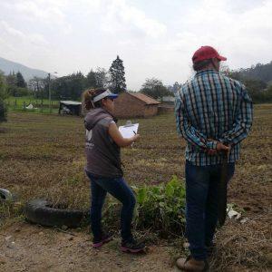 Visita georreferenciación predios municipio de Tibasosa