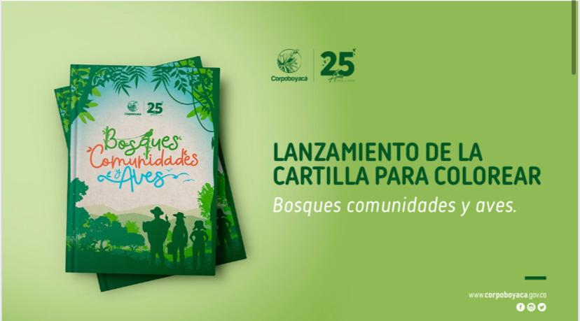 Foto Corpoboyacá presentará la cartilla: Bosques Comunidades y Aves