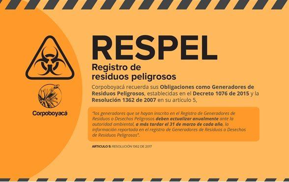 Foto RESPEL Registro de Residuos Peligros
