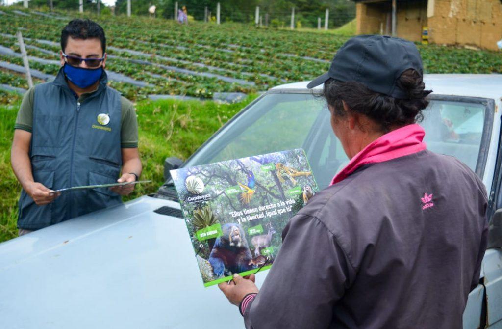 Foto Corpoboyacá realizó monitoreo y seguimiento a posible aparición de Osa Andina en Monguí