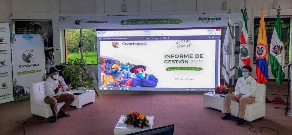 Foto Áreas protegidas, agua y negocios verdes priorizó Corpoboyacá en su primer año de gestión
