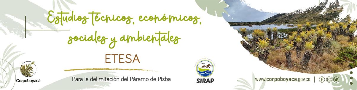 Foto Estudios Técnico Económicos Sociales y Ambientales – ETESA para la delimitación del Páramo de Pisba