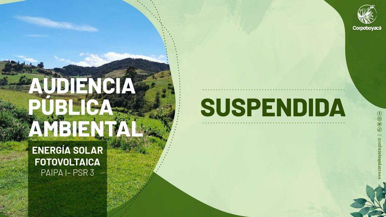 Foto Audiencia pública ambiental – PSR3 – Suspendida
