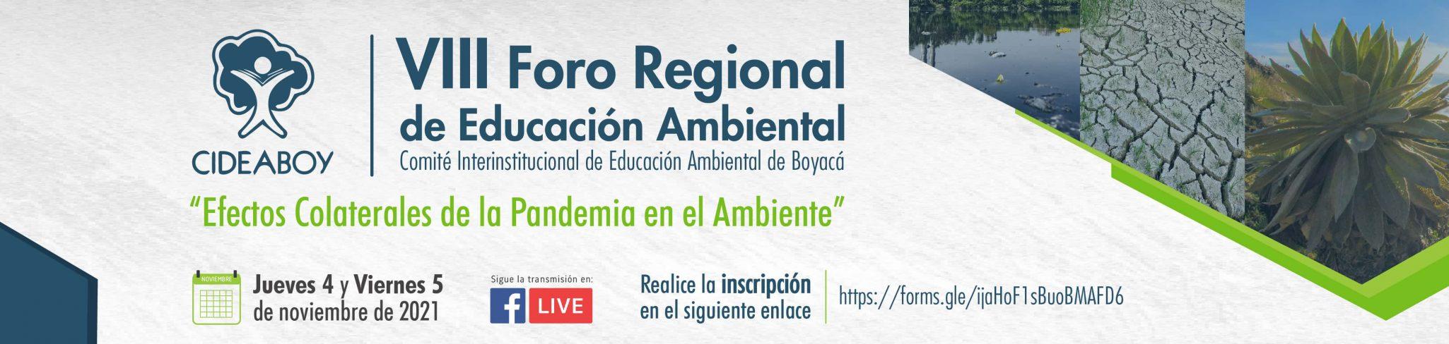 Foto VIII Foro Regional Educación Ambiental – CIDEABOY
